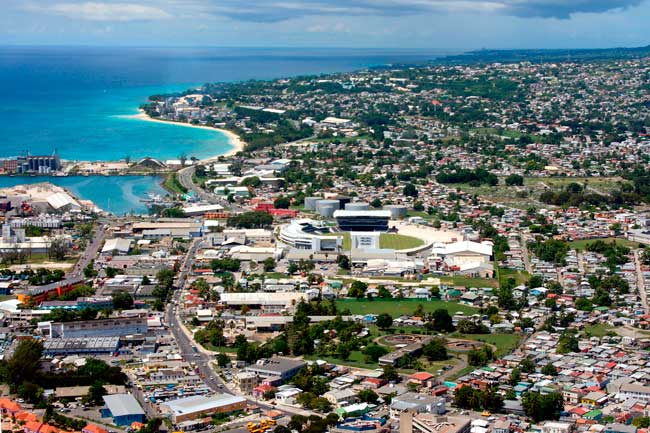 Bridgetown is the main city of Barbados.