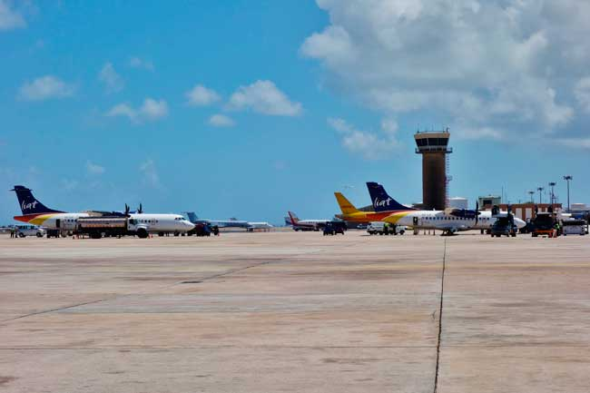 Bridgetown Airport serves daily direct flights to Central America, Europe, Canada and the United States.